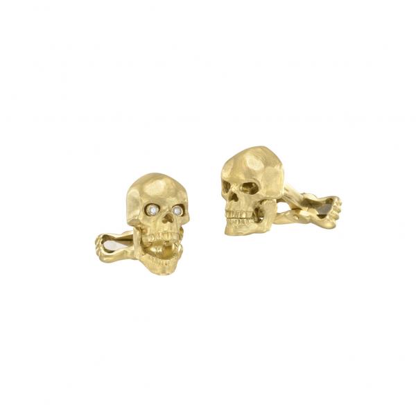 Deakin & Francis Gold Skull Cufflinks