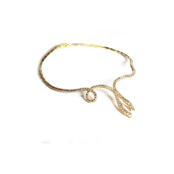 Champagne Diamond Diva Necklace