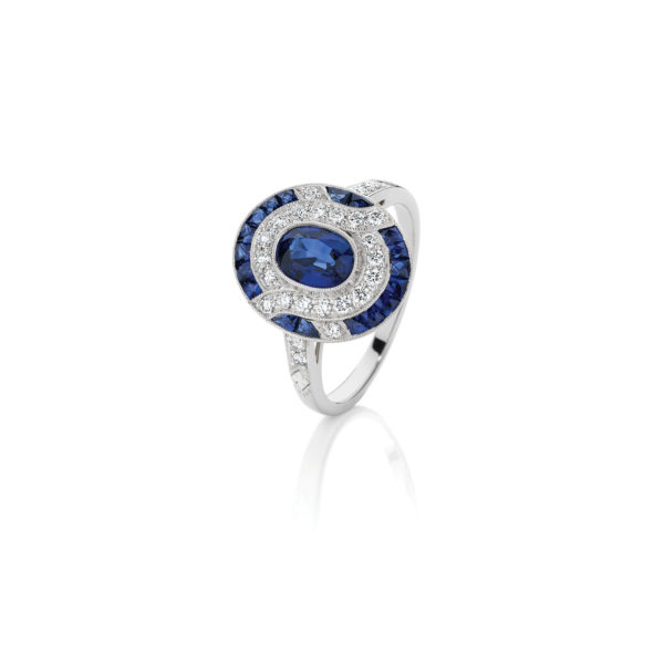 An Art Deco Sapphire and diamond ring