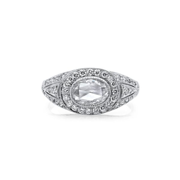 oval rose cut diamond