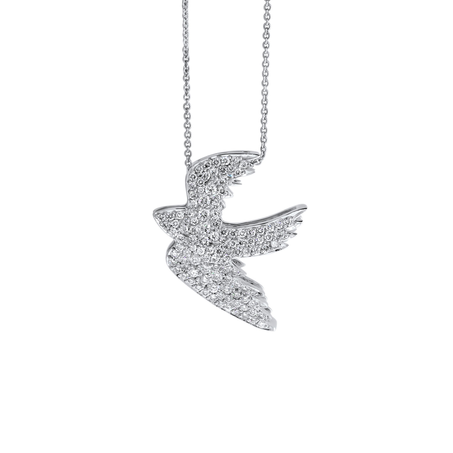 sterling necklaces peace loading en dove necklace enomis silver pendant zoom