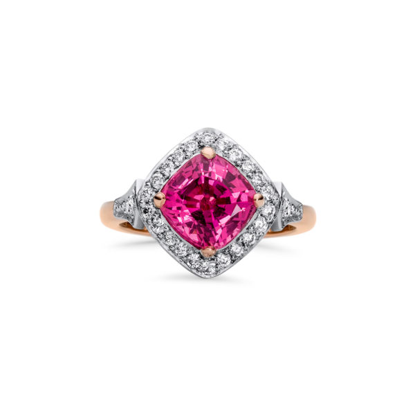 Natural Pink Spinel And Diamond Ring Fairfax Amp Roberts