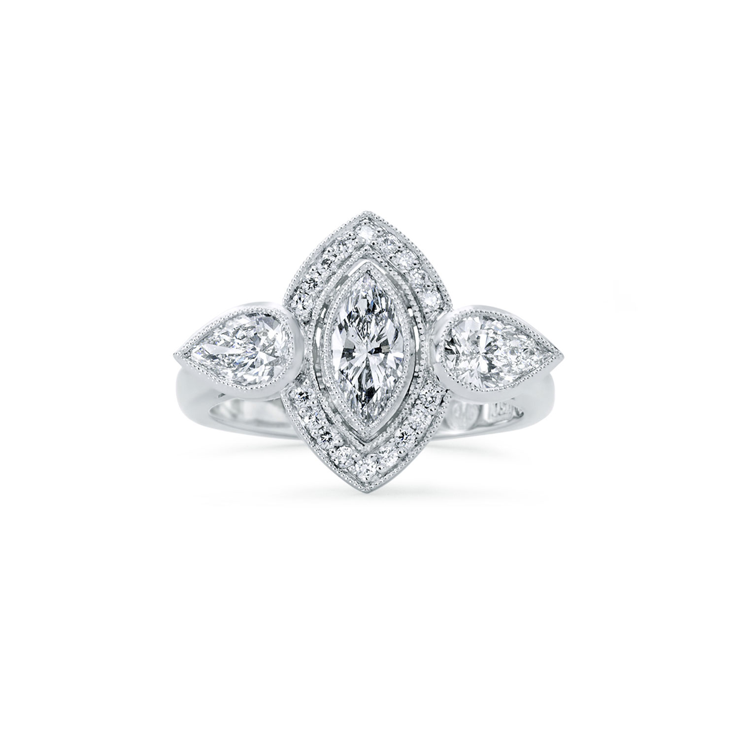 An art deco marquise diamond engagement ring for Art craft engagement rings