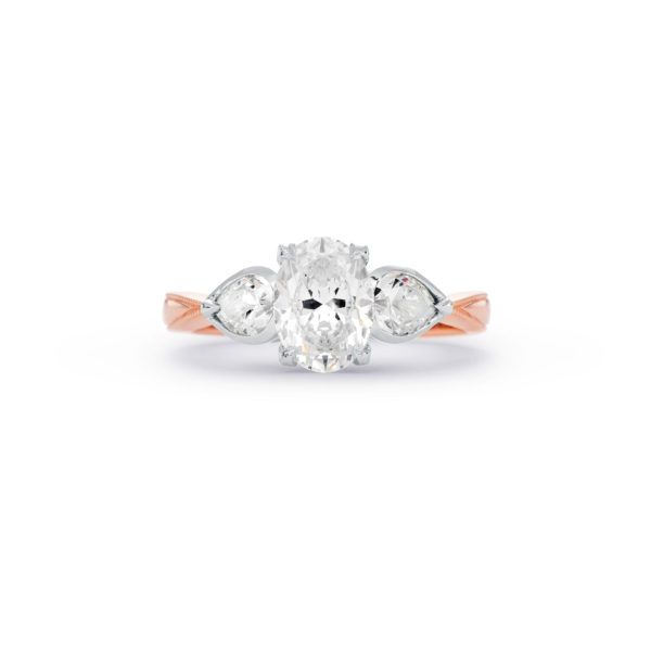 """Unconditionally Yours"" oval cut three-stone engagement ring"