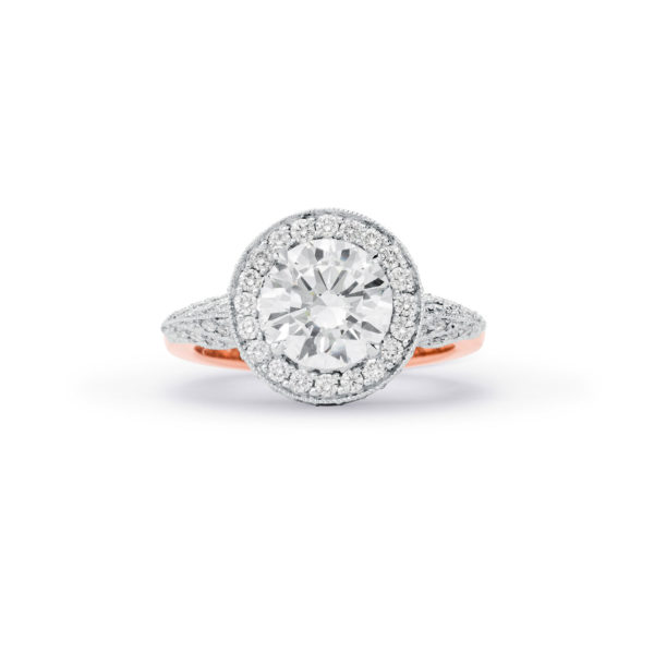 """Unconditionally Yours"" Round brilliant cut diamond halo"