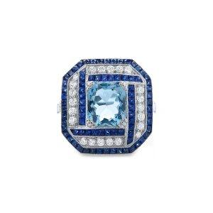 Auguamarine dress ring_A4493_1