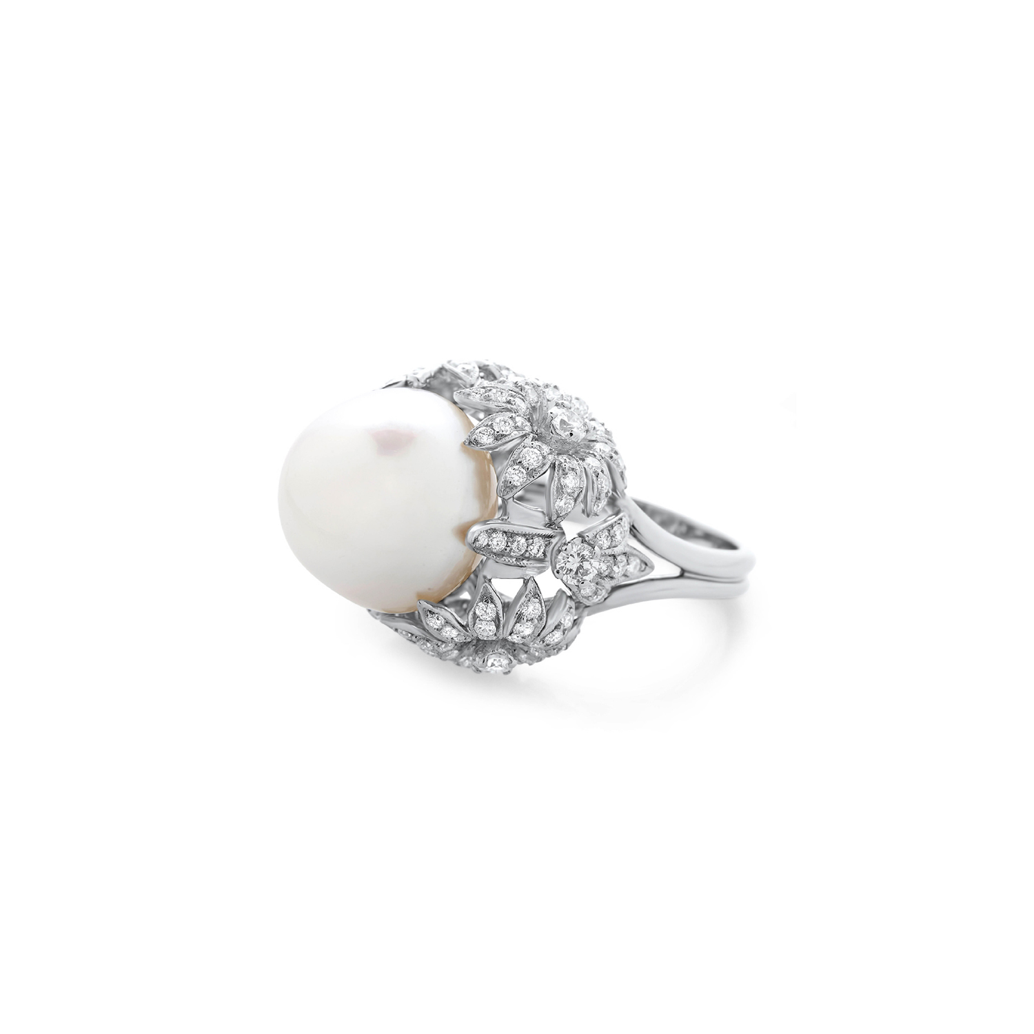 dramatic rings s products cocktail vintage diamond cultured pearl dress ring art deco and engagement extravagant