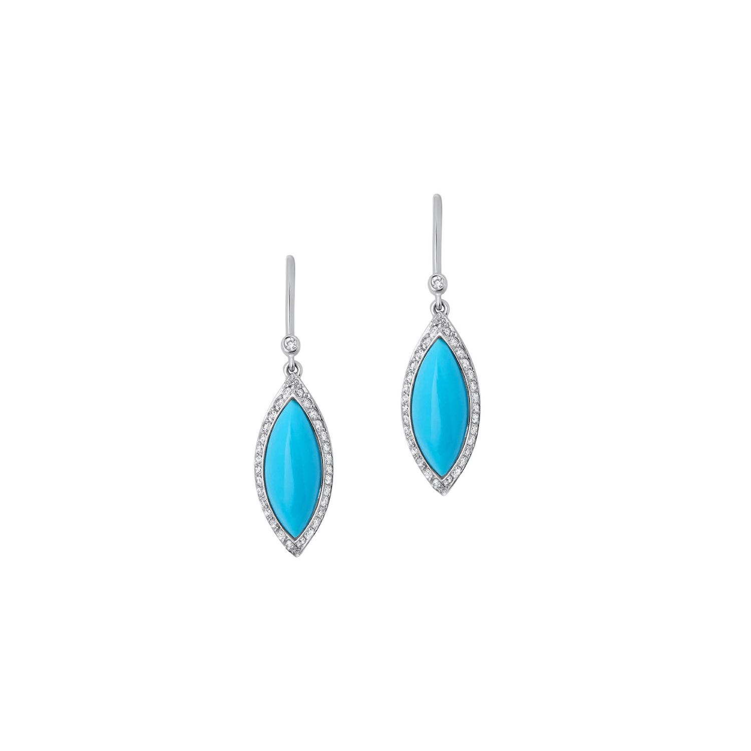 Turquoise And Diamond Drop Earrings G2367
