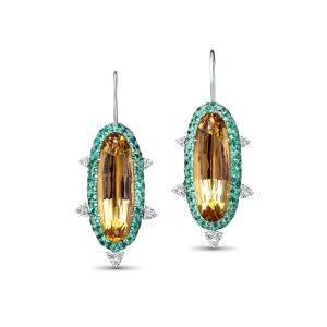 DavidMichaelJewels_Fairfaxandroberts_SunPod Drop Earrings