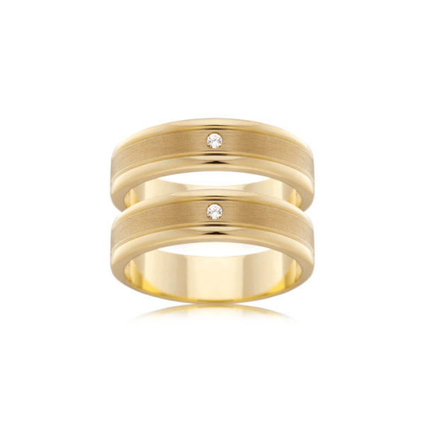 Wedding ring, engagement or commitment ring in yellow gold