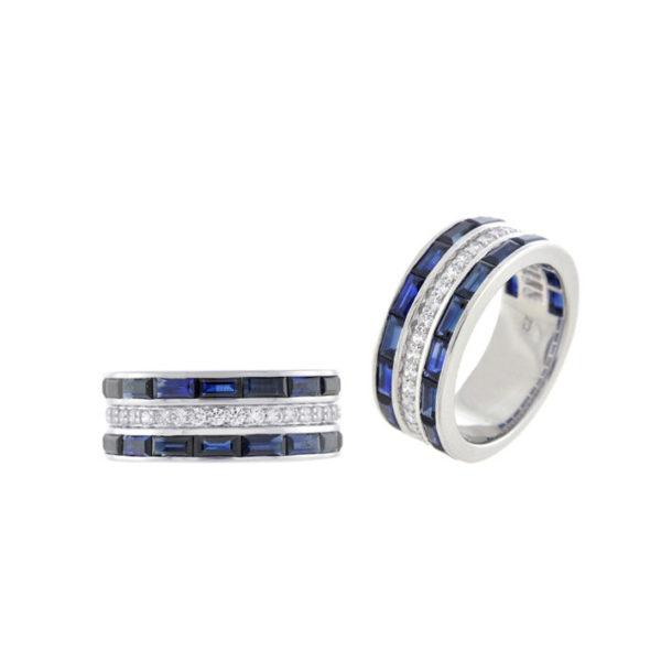 Mens and womens engagement ring and commitment ring love wins