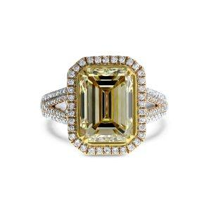 Gatsby Art Deco Yellow Diamond Ring