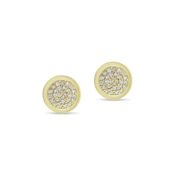 Art Deco style Cleopatrastud earrings in 18K yellow gold