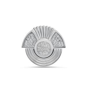 Art Deco style Cleopatra ring in 18K white gold