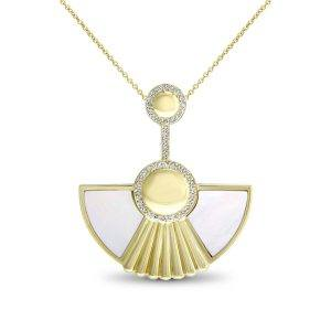 Art Deco Style Cleopatra pendant in 18K yellow gold by Fairfax & Roberts