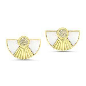 Art Deco Style Cleopatra Earrings in 18K yellow gold