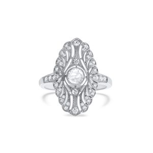 Art Deco rose cut diamond ring