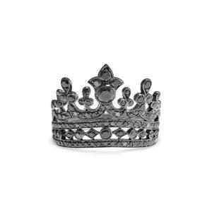 Black Diamond Crown Ring