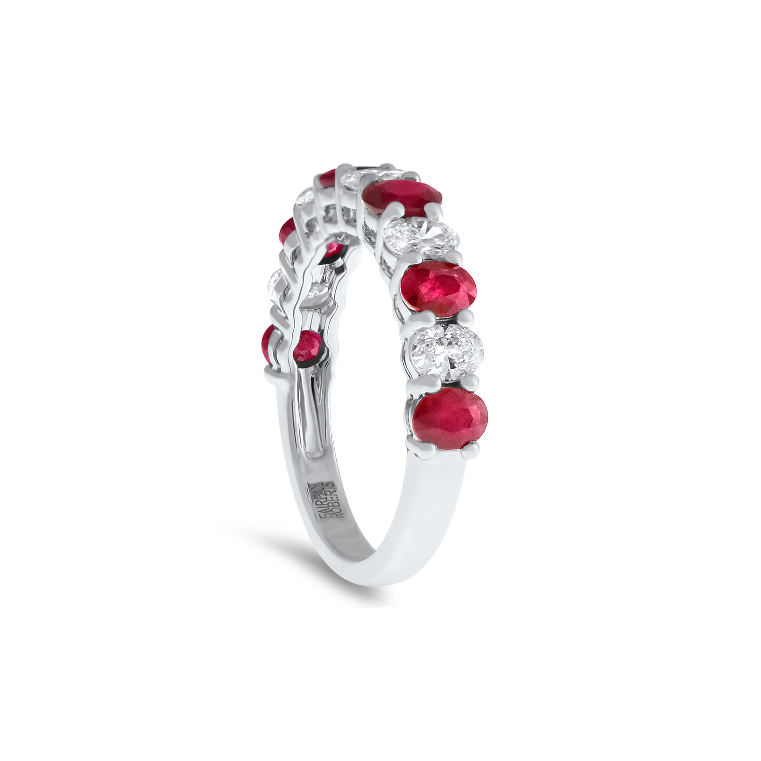 Ruby and diamond eternity band