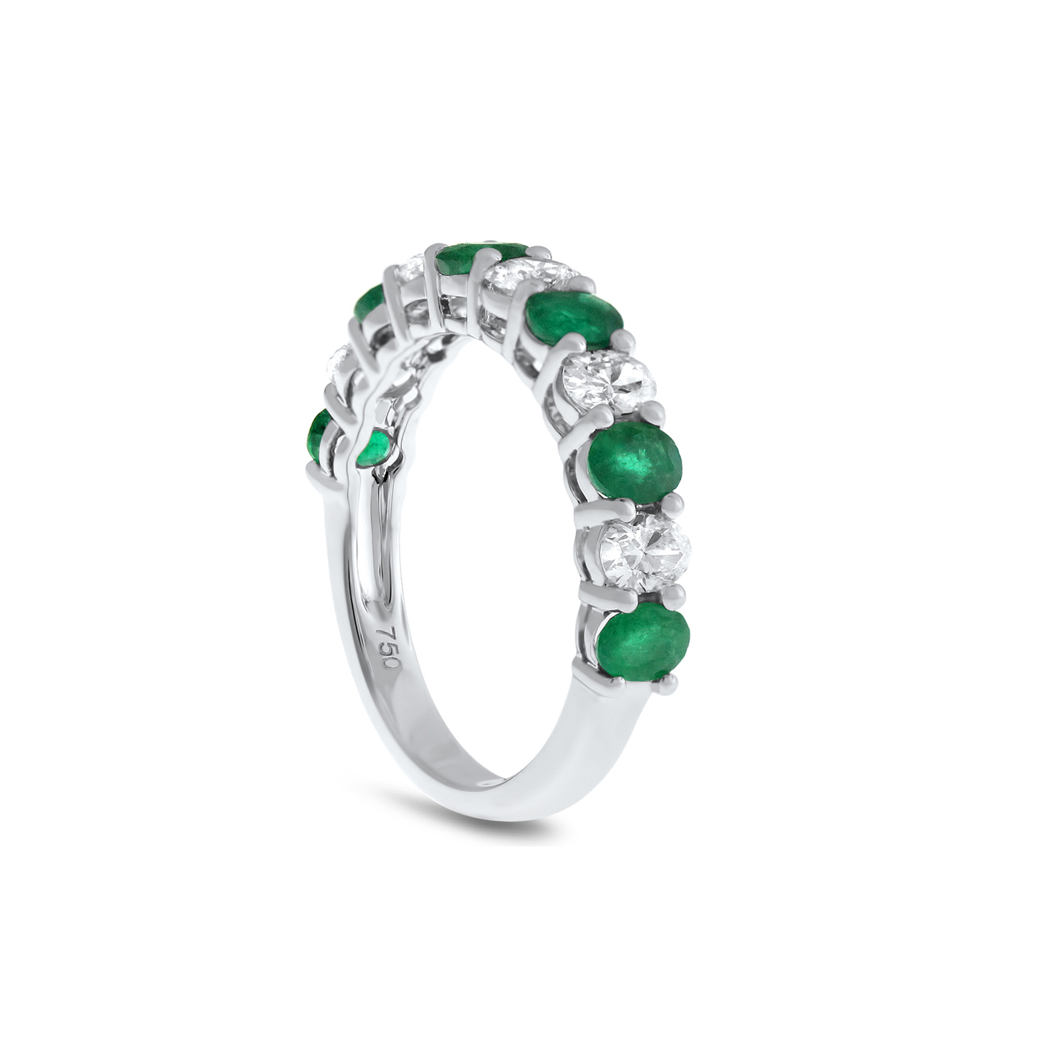 all a thin around furst gold emerald diamond white band french france diamonds ring eternity products with setting bands