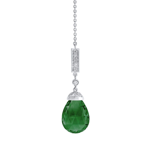 The Wolgan Necklace With A Green Tourmaline