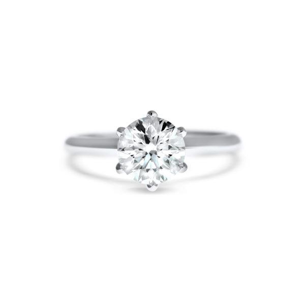 round brilliant cut diamond solitaire