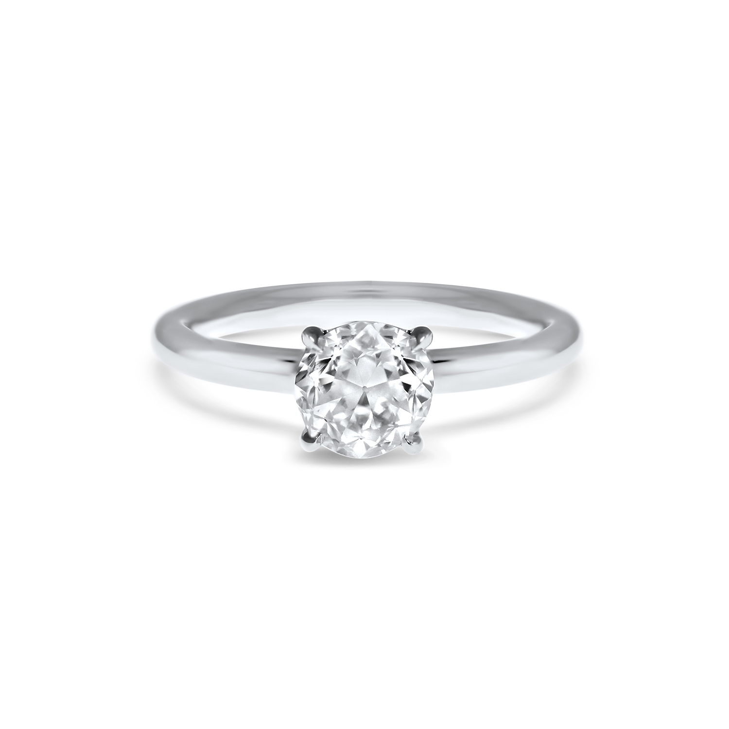 frisch finger rings claw solitaire wedding down band ring of engagement with four a plain