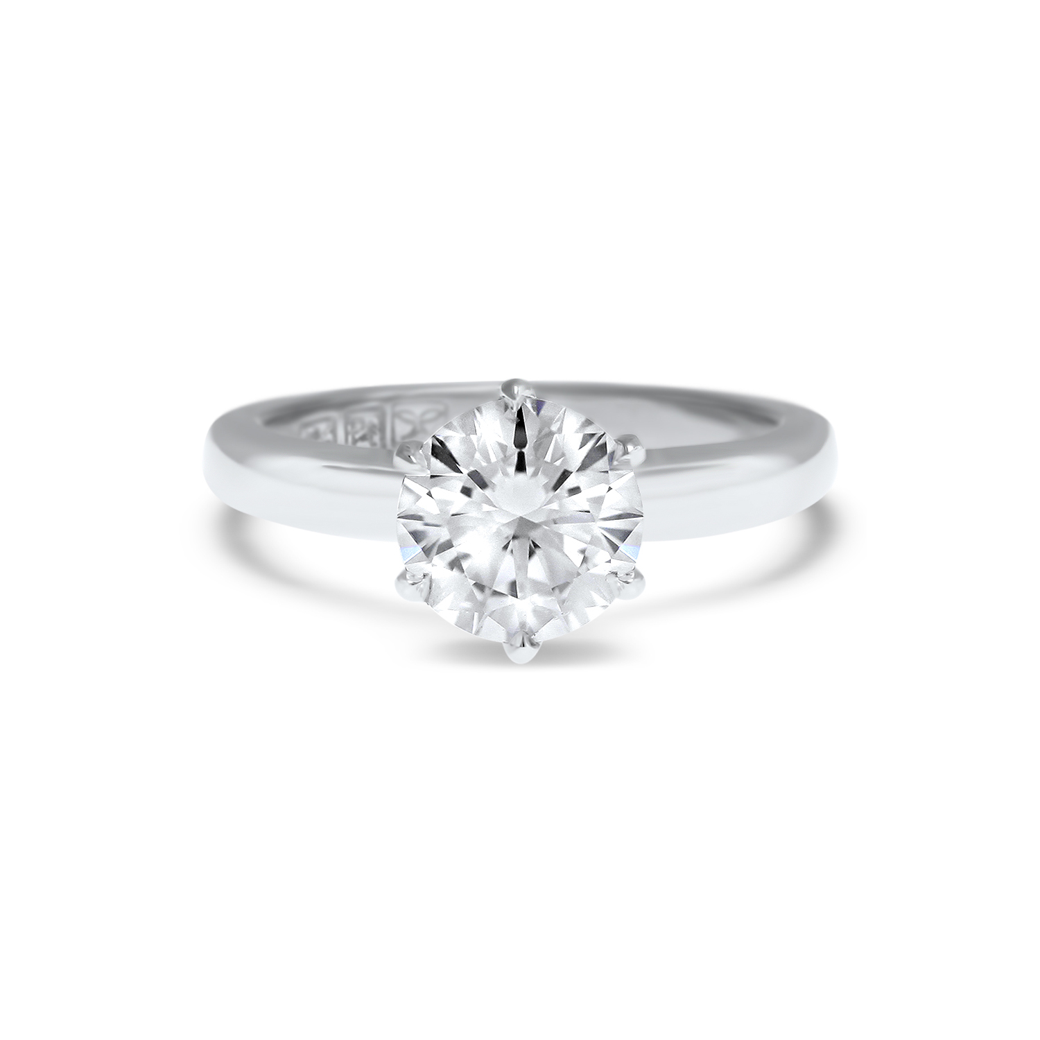 Engagement Rings Round Cut: Round Brilliant Cut Solitaire Engagement Ring