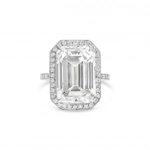 1 Emerald cut 10.02ct JVVS2 engagement ring fairfax and roberts