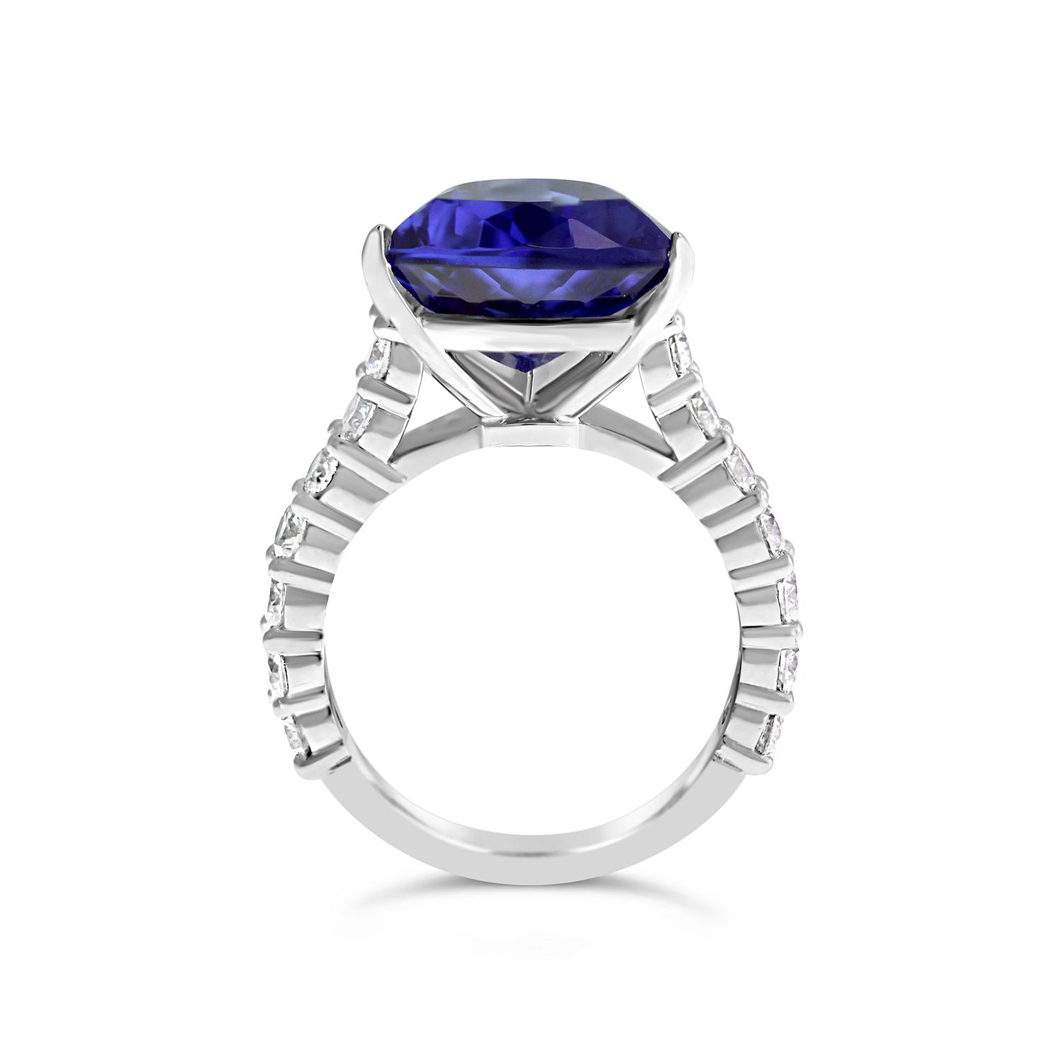 tanzanite spectacular clear cut cz on pin trillion of a by colored stone halo enhanced brilliant czs