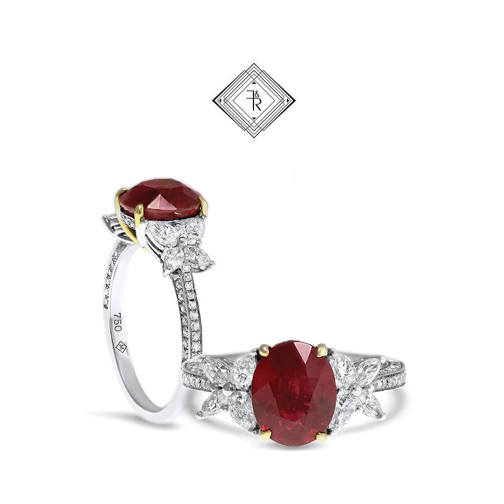 Gemstone engagement Ring Ruby