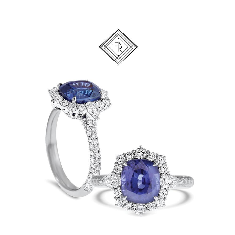 Gemstone engagement Ring Sapphire