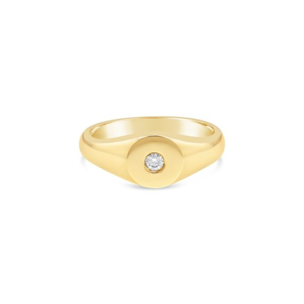 classic diamond set signet ring - Fairfax and Roberts