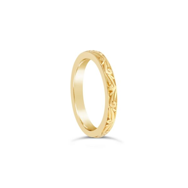 Hand Engraved Yellow Gold Ring - Fiarfax and Roberts