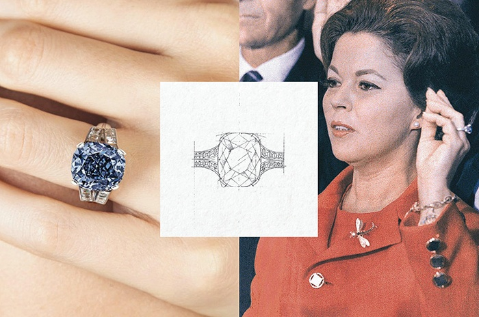 Shirley temple blue diamond ring 2