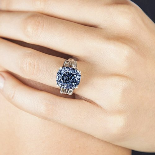 Shirley temple blue diamond ring