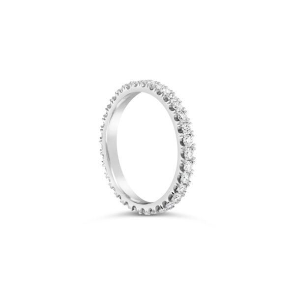 Round Brilliant Cut Diamond Full Eternity Ring