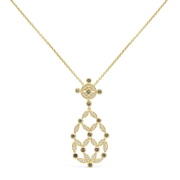 Cognac Diamond Necklace