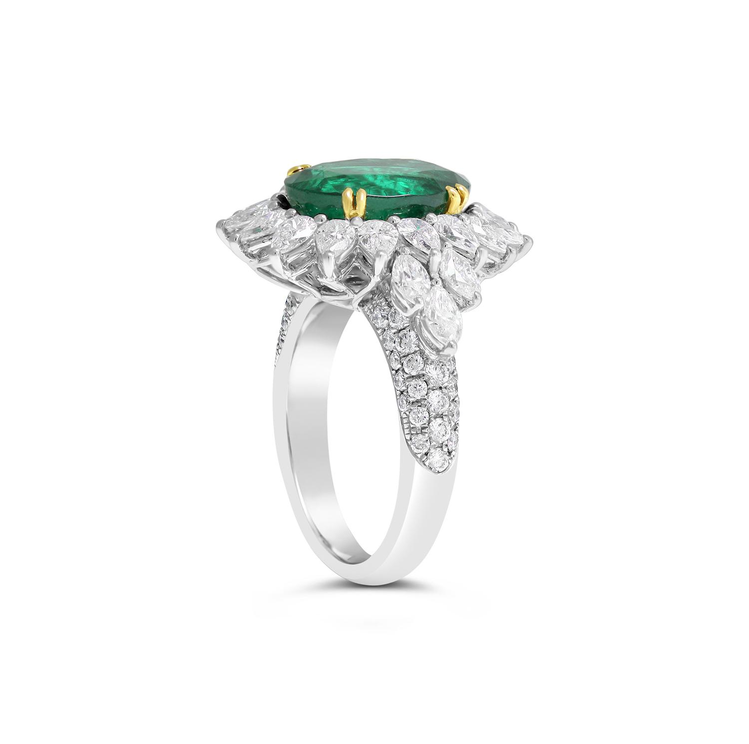 Oval Emerald And Diamond Ring Fairfax Amp Roberts