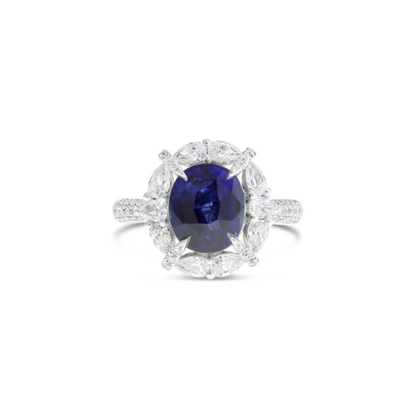 Ceylonese Sapphire and Diamond Dress Ring