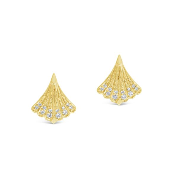 Modele Collection Pave Diamond Stud Earrings