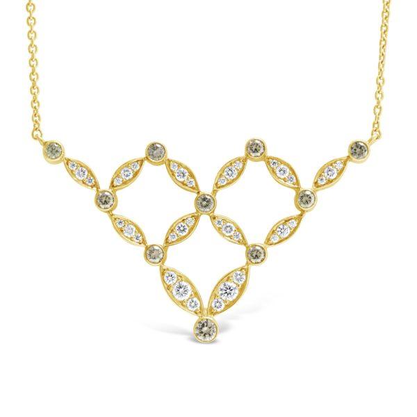 Champagne Diamond Necklace