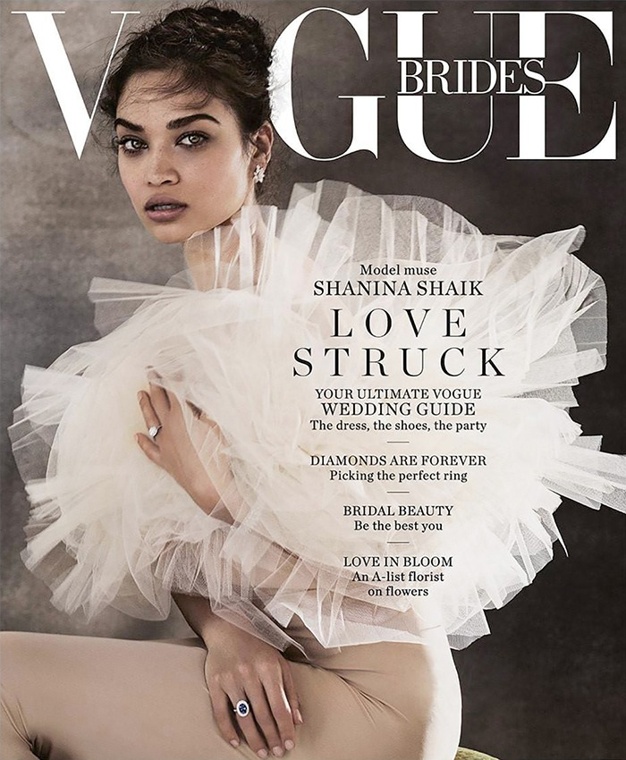 Vogue Australia Brides Cover With Shanina Shaik
