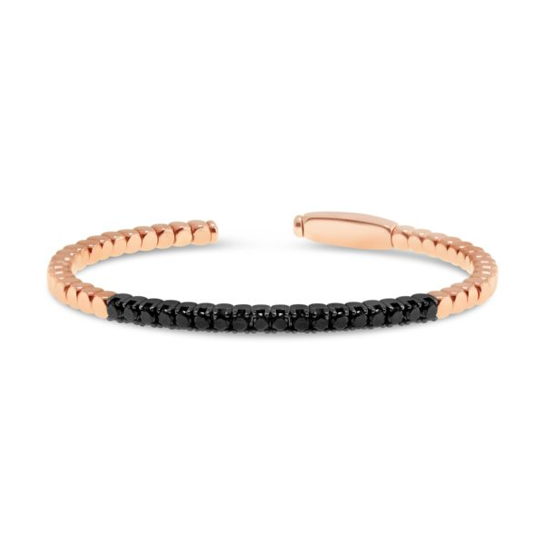 Roberto Demeglio Dado rose gold black diamonds cuff G3081