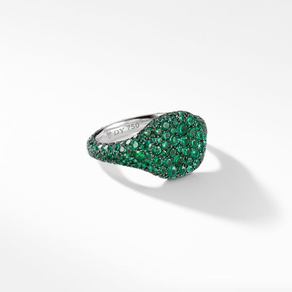 David Yurman Pinky Ring Emerald