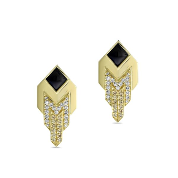"""Art Deco"" Collection Stud Earrings"
