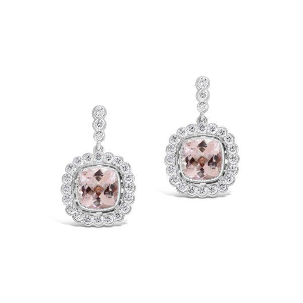 Shelley Collection Morganite Drop Earrings
