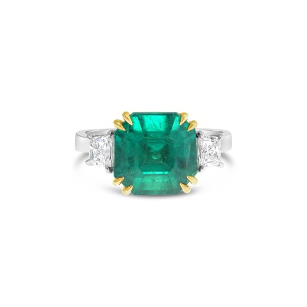 Colombian Emerald Three Stone Ring