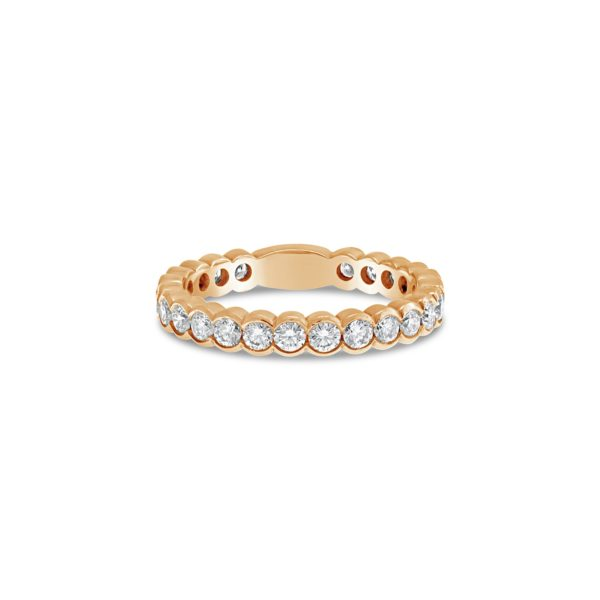 Scalloped Set Diamond Wedding Ring