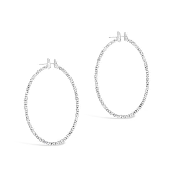 A6759_Roberto Demeglio White Diamond Pave hoop earrings